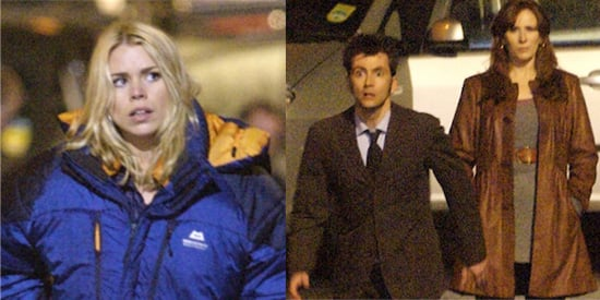Billie Piper, David Tennant And Catherine Tate On The Doctor Who Set