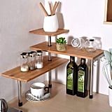 Ollieroo 3 Tier Corner Shelf Bamboo Spice Rack