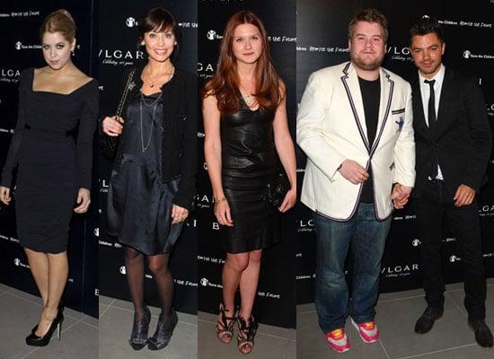 Photos of Peaches Geldof, Natalie Imbruglia, Bonnie Wright, James Corden, Dominic Cooper at Vogue Bvlgari Charity Reception