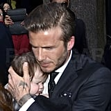 David Beckham dined with daughter Harper Beckham.