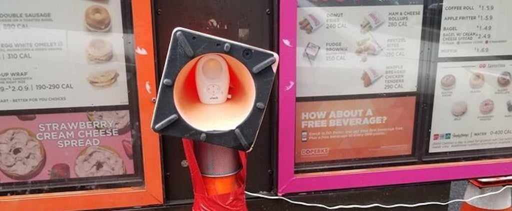 Dunkin' Donuts Replaces Broken Speaker With Baby Monitor