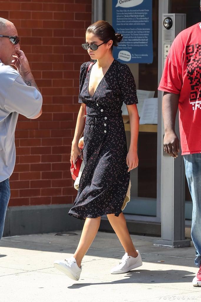 Selena Gomez Wearing Rouje Dress