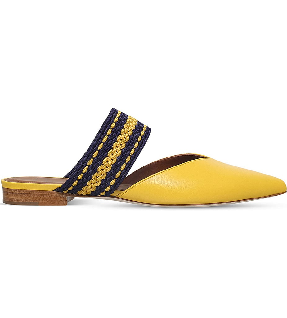 Spring is the best time to sport a cheerful color like yellow. We love the colorful threaded details on this Malone Souliers flat's strap ($380) and the pointy toe is quite flattering, too.