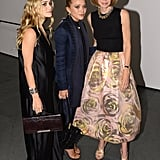Anna Wintour, Ashley Olsen, and Mary-Kate Olsen posed for photos at MoMA for the Innovator of the Year Awards.