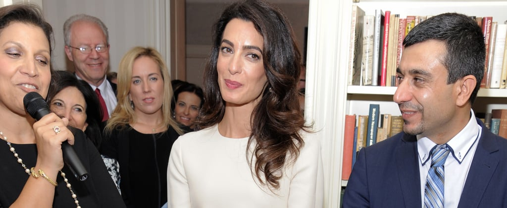 Amal Clooney's Not Wearing Your Standard Little White Dress