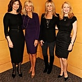 Jeann Tripplehorn, Dr. Jill Biden, Jennifer Aniston, and Patricia Clarkson in DC for Five.