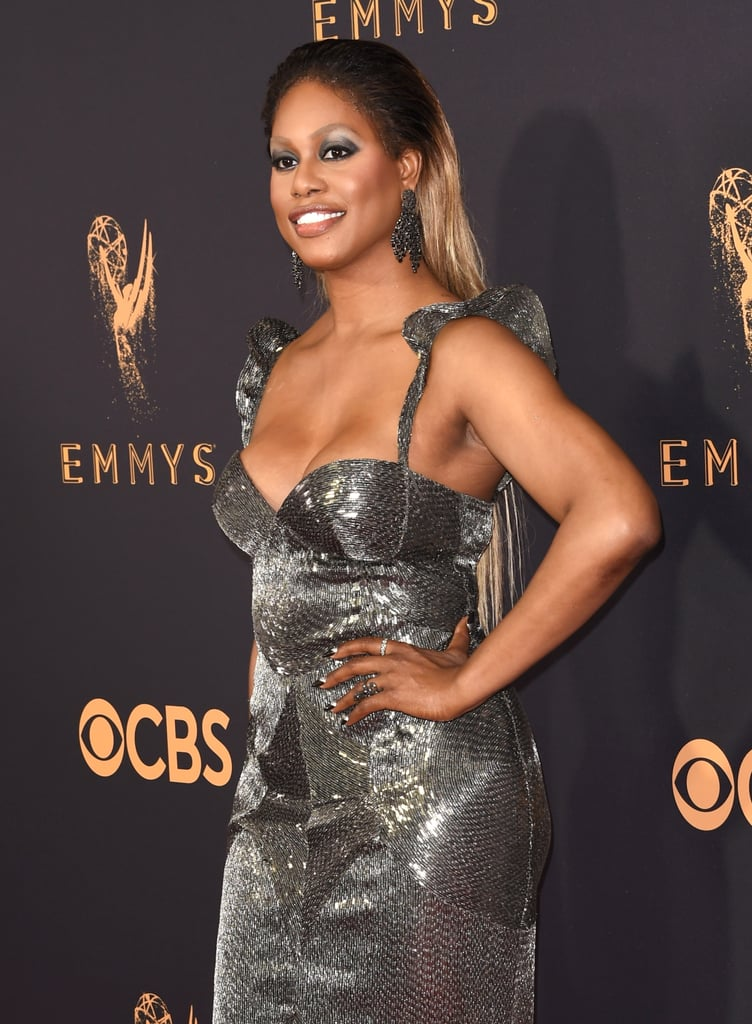 What nail polish is Laverne Cox wearing at the 2017 Emmys?