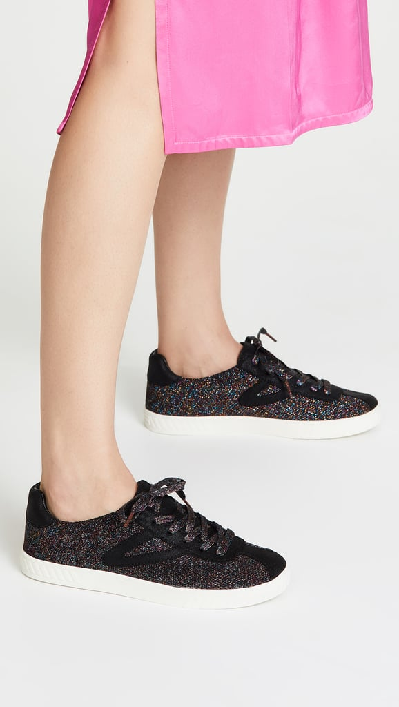 Tretorn Camden Lace Up Glitter Sneakers