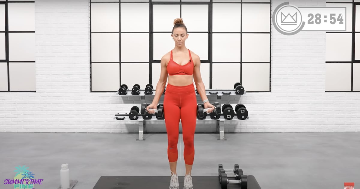 Sculpt a Strong Back and Biceps With This 40-Minute Upper-Body Dumbbell Workout