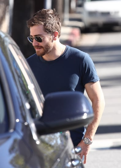 Pictures of Jake Gyllenhaal and Marc Silverstein Getting Coffee in LA