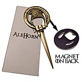 "AleHorn ""Hand of the King"" Style Bottle Opener"