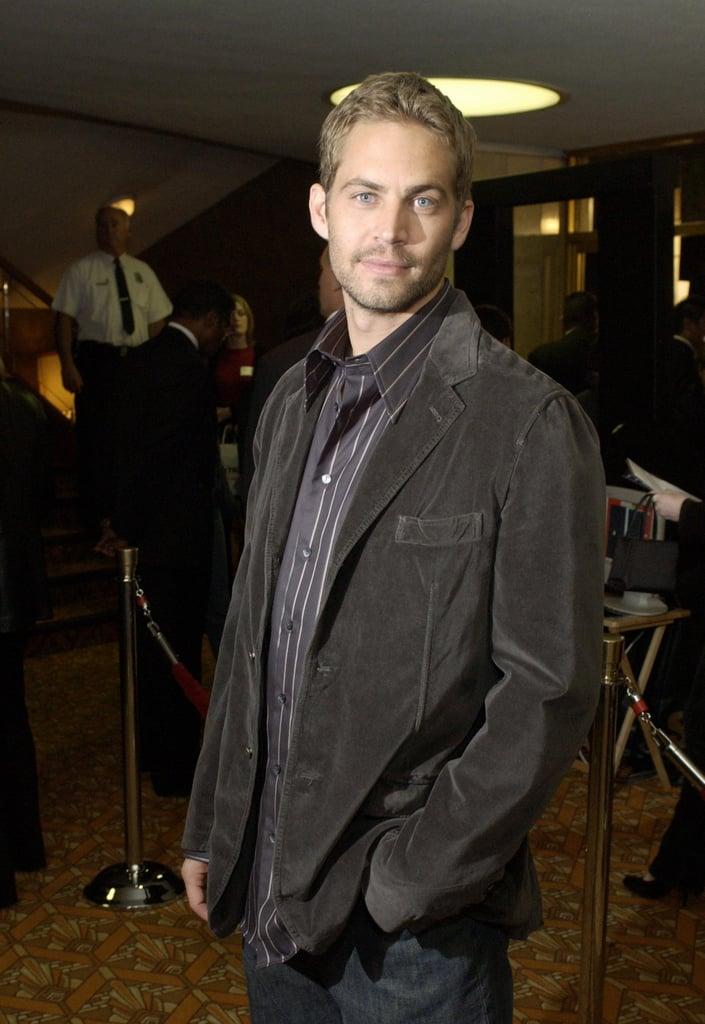 Paul Walker attended the LA premiere of Timeline in November 2003.