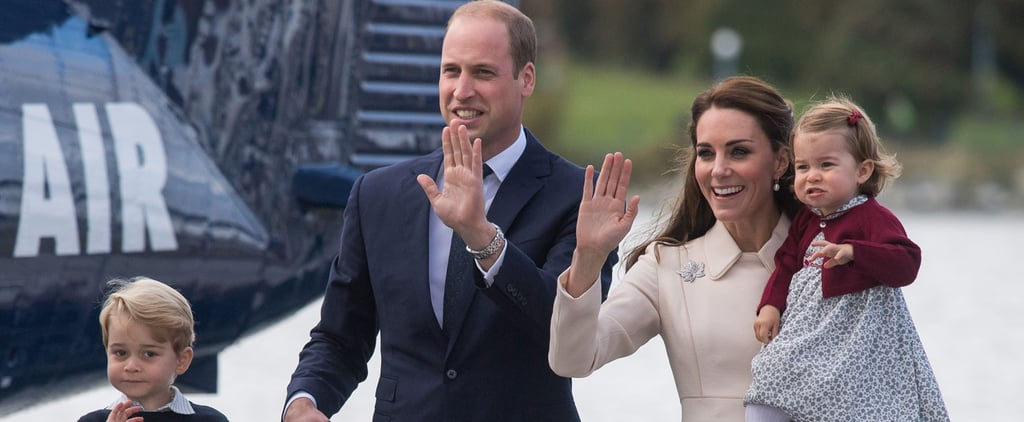Prince George and Princess Charlotte Wave Goodbye to Canada