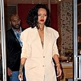 Rihanna's Slip Dress and Blazer January 2019
