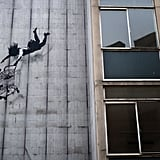 Banksy's latest street art in London, England.