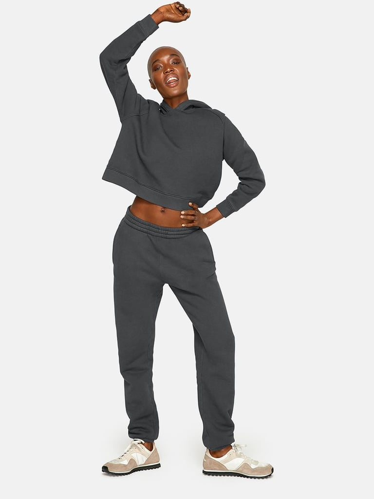 Outdoor Voices Nimbus Cotton Cropped Hoodie and Nimbus Cotton Sweatpants