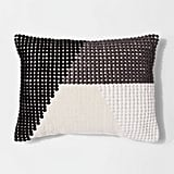 Texture Color Block Lumbar Pillow
