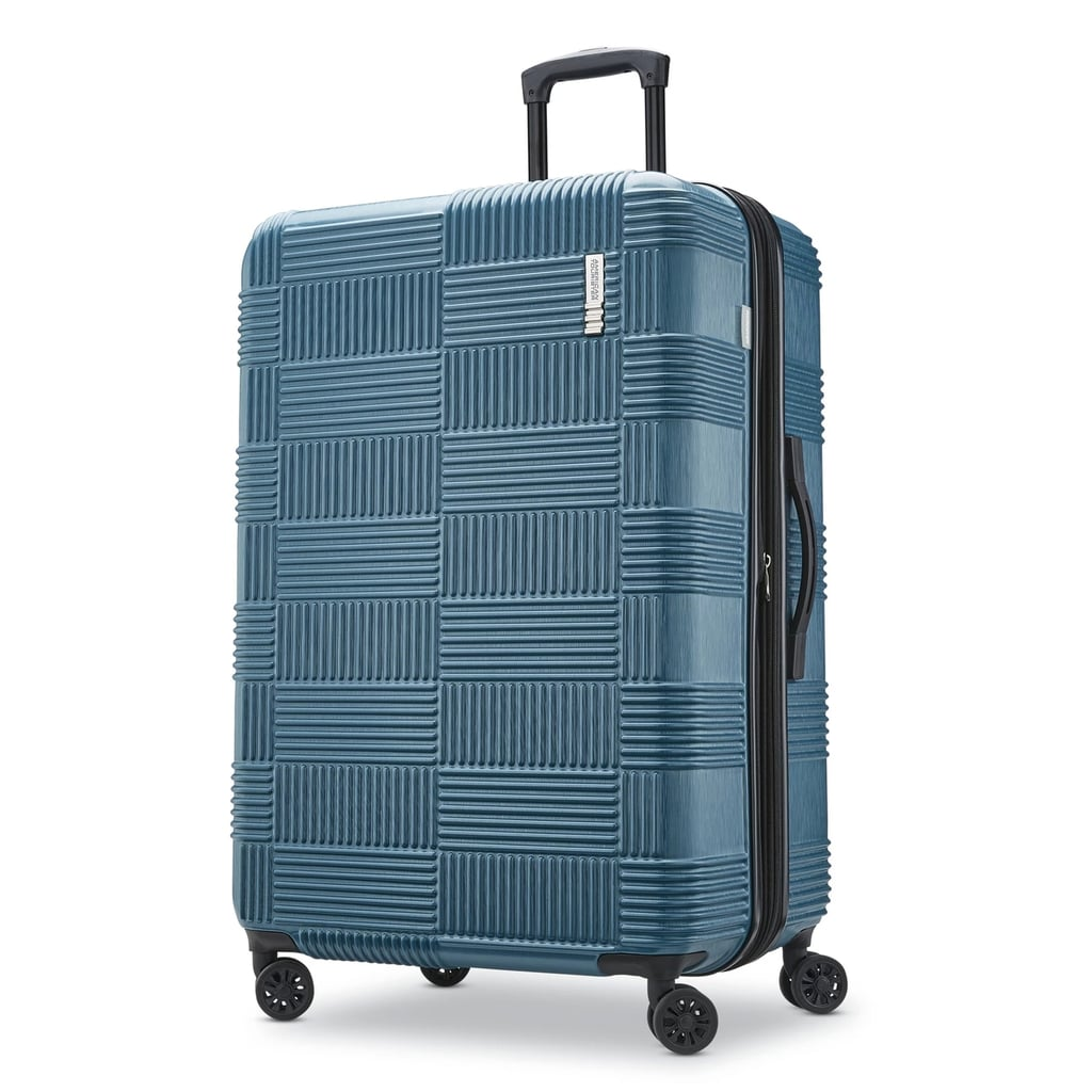 805ba541d6 American Tourister 28-Inch Checkered Hardside Suitcase in Teal ...