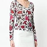 Dvf Diane Von Furstenberg Sheer Floral Print Top