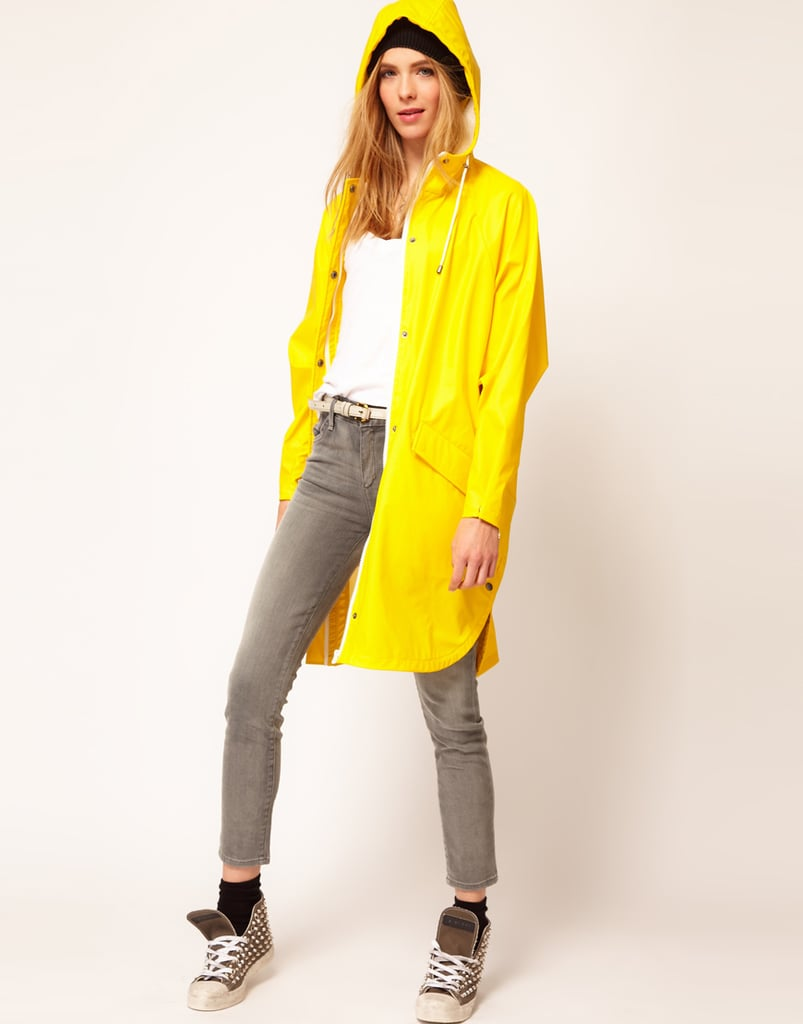 The color may be vibrant, and you be instantly reminded of your childhood romps in the rain, but isn't that kind of fun? We think so. Add the brightness to a dreary day (waterproof functionality included) via this Selected Rafael trench ($156).