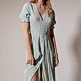 Faithfull the Brand Ari Floral Puff Sleeve Midi Dress