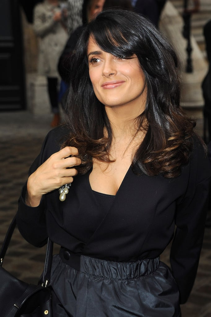Salma Hayek made a stylish arrival.