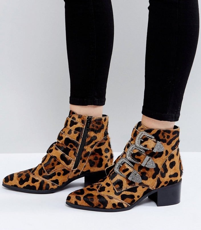 705a32b70af4 ASOS Relieve Wide Fit Leopard Ankle Boots | Best Fall Boots ...