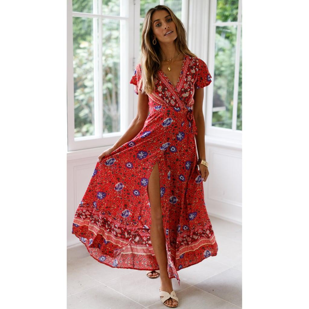 Ukap Wrap Maxi Dress