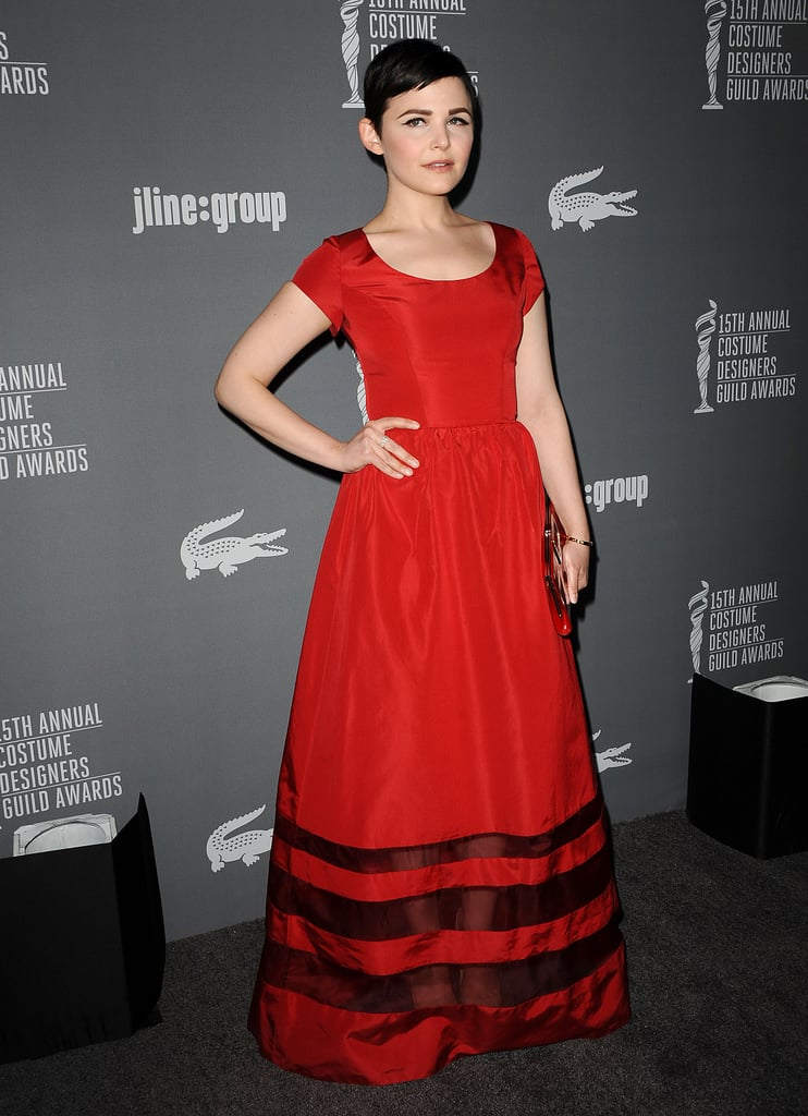 Ginnifer Goodwin wore Misha Nonoo at the Costume Designers Guild Awards in Los Angeles.