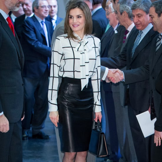 Queen Letizia's Leather Skirt February 2017