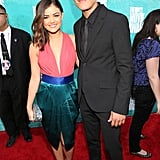 Lucy Hale and Chris Zylka posed together on the red carpet.