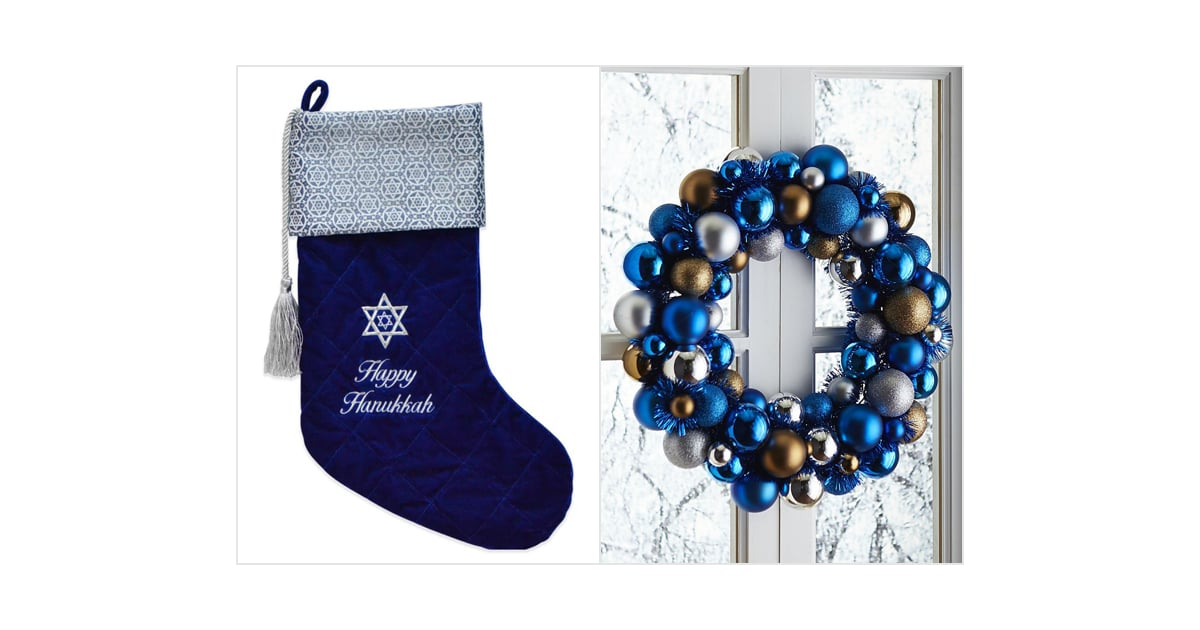Hanukkah Christmas Stocking.Putting Up Hanukkah Home Accents 14 New Hanukkah