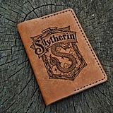 Slytherin Leather Passport Cover