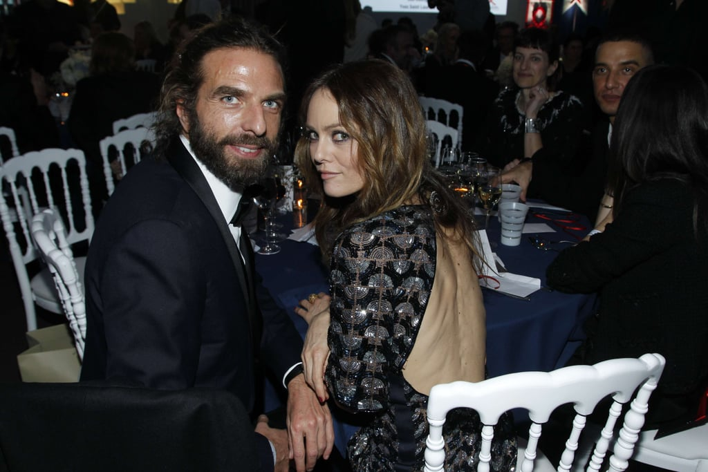 Vanessa Paradis posed alongside friend John Nollet.