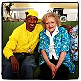 Just Nick Cannon and Betty White, your everyday BFFs. Source: Instagram user nickcannongram