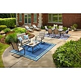Hampton Bay Crestridge 7-Piece Steel Padded Sling Outdoor Patio Dining Set
