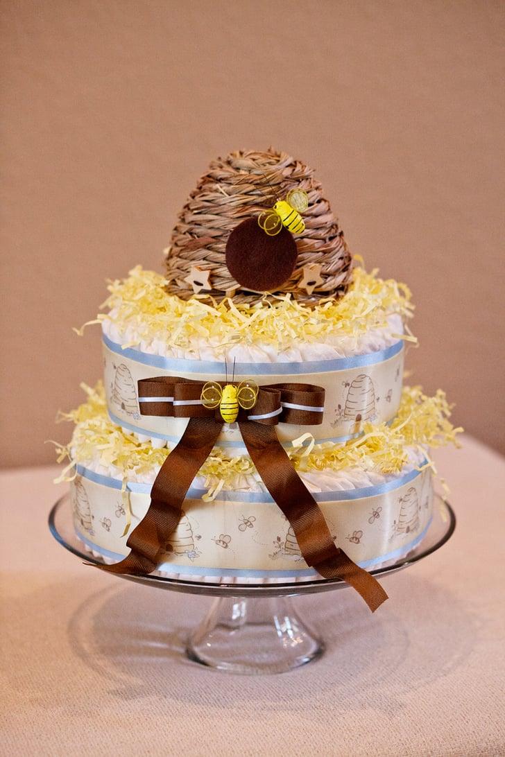 Bee Themed Diaper Cake Baby Shower Diaper Cakes
