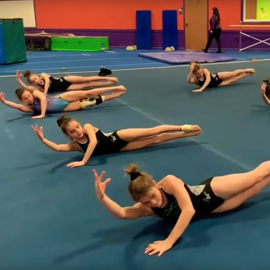 """Gymnast Ab Workout Routine to Ariana Grande """"7 Rings"""" Video"""