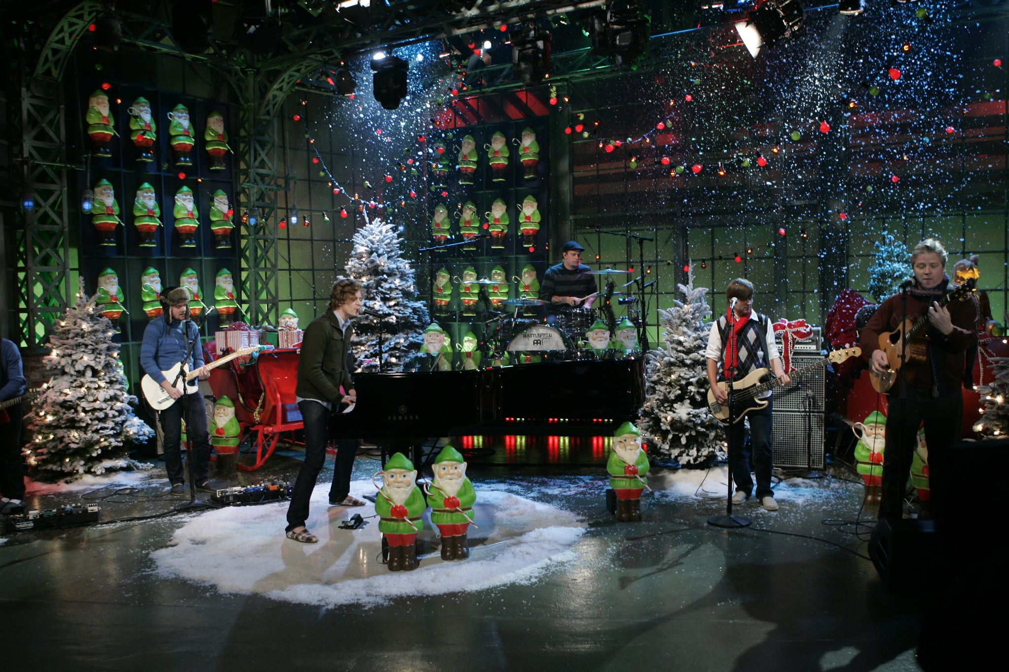 THE TONIGHT SHOW WITH JAY LENO -- Relient K -- Episode 3677 -- Air Date 12/16/2008 -- Pictured: Musical guest Relient K performs on December 16, 2008  (Photo by Paul Drinkwater/NBCU Photo Bank/NBCUniversal via Getty Images via Getty Images)