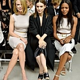 Nicole Kidman, Rooney Mara and Naomie Harris sat next to each other at Calvin Klein's Spring 2014 show.