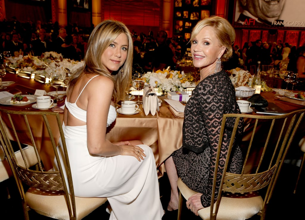 Jennifer Aniston shared a table with Melanie Griffith at an AFI gala.