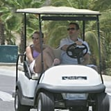 Jason Priestley and Naomi Lowde hung out in Mexico after tying the knot in the Bahamas in May 2005.