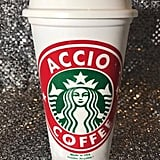 "Harry Potter Personalized Customized ""Accio Coffee"" Starbucks Cup ($10)"