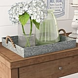 Galvanized Coffee Table Tray