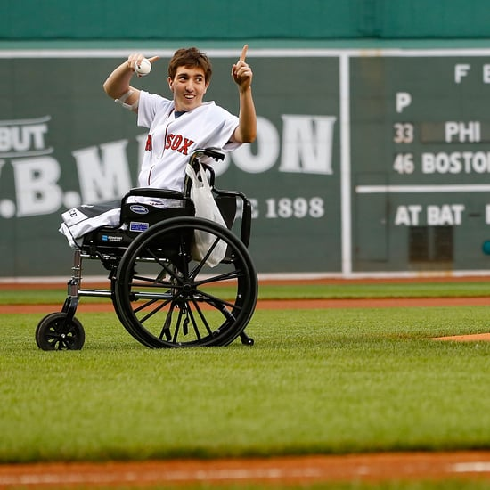 Boston Marathon Survivor Throws First Pitch | Video
