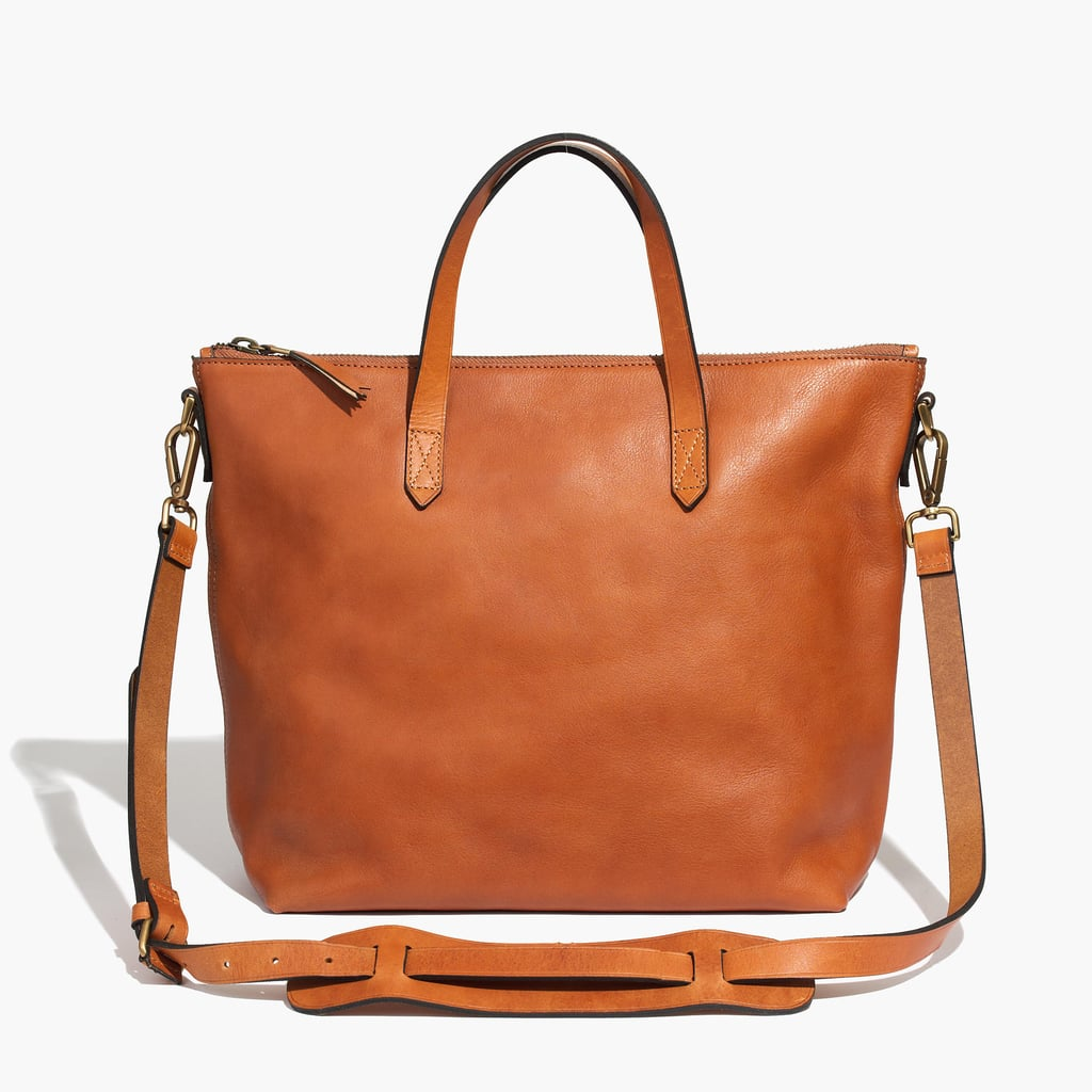 Zip Leather Transport Tote ($188)