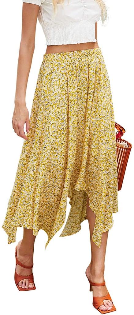 Hibluco Floral Midi Skirt