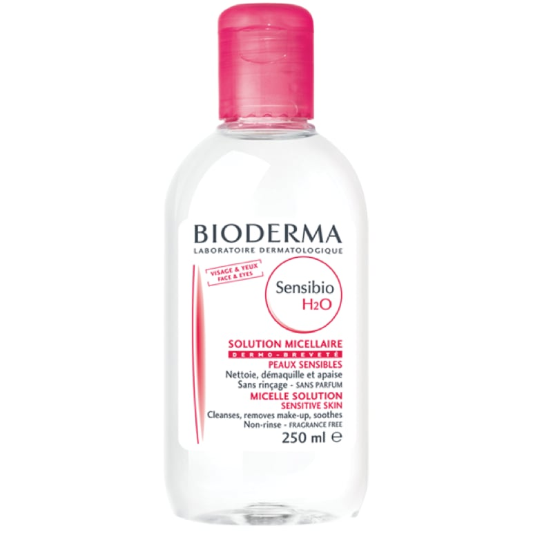 """An old backstage favorite, model Vera V. loves using Bioderma to get all of her makeup off and keep her skin in check. """"I think all models use this, I think the French really know what they're doing!"""""""