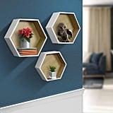 Sorbus Floating Shelf Hexagon Set