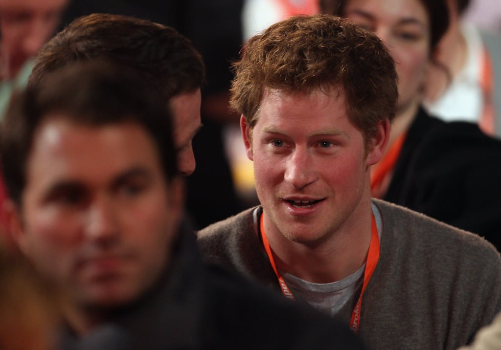 "Prince Harry was at Alexandra Palace on Saturday to watch the World Darts Championships semi finals. GQ's fifth best dressed man congratulated Adrian Lewis on his win, and the darts player said: ""I came off stage buzzing, and the next thing I knew Prince Harry was coming over to me and giving me a big hug, so I kissed him on the cheek for some reason."" Harry missed out on a church service at Sandringham, where baby Savannah's name was revealed, but he was with the Royal family on Christmas Day. He partied with his cousins Princesses Beatrice and Eugenie in the lead up to the festive season, after official duties in Berlin. Harry's already revealed how excited he is about William and Kate Middleton's wedding, and he's also got his cousin Zara Phillips' nuptials coming up too."